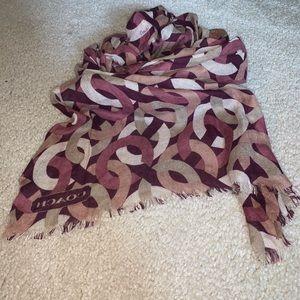 Authentic coach scarf/ neck wrap !